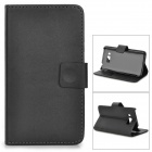 a-336 Protective PU Case w/ Stand for ASUS Ascend W2 - Black