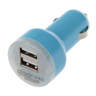 VACART 001 Dual USB Car Cigarette Lighter Power Charger Adapter - Blue (12~24V)