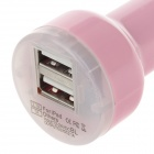 VACART 001 Dual USB Car Cigarette Lighter Power Charger Adapter - Pink (12~24V)