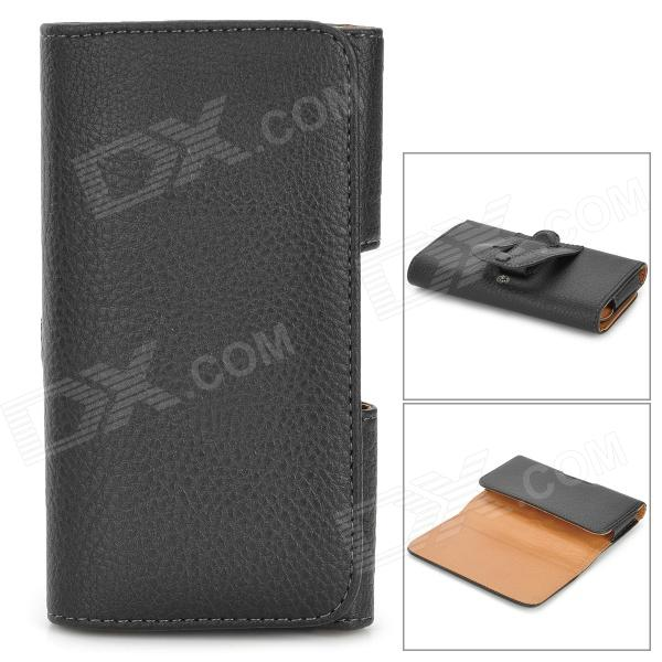 I-9082 Lychee Pattern Protective PU Case for Google Nexus 5 - Black