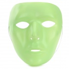 PVC Glow-in-the-Dark Face Mask for Women - Fluorecent Green