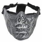 M05 Zombie Face Style ABS Tactical Face Mask - Black + Silver
