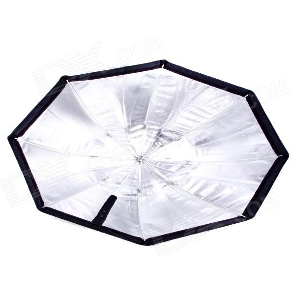80cm Speedlight Flash Reflective Octagonal Umbrella Softbox - Black + White