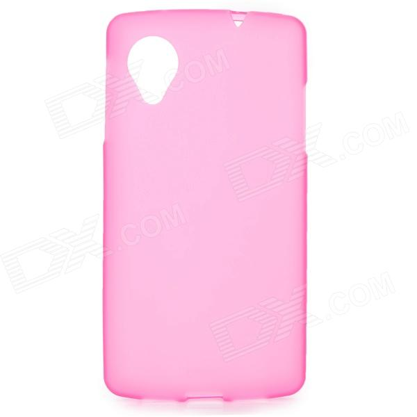 Matte Protective TPU Back Case for LG Nexus 5 - Pink