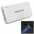 "2W-AW ""20000mAh"" Mobile Power Bank w/ LED Flashlight - White + Light Grey"