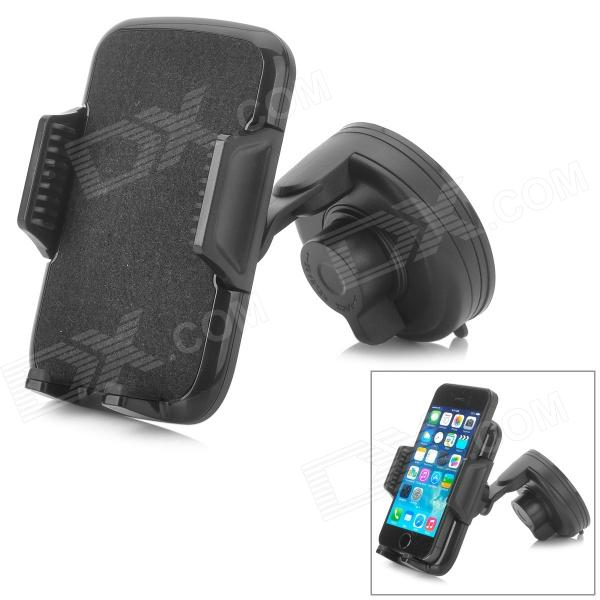 065 ABS 360 Degree Rotatable Multifunction Mount Holder for Cellphone / GPS / MP3 / MP4 - Black jhd 12hd68 universal 360 degree rotatable car mount holder for cellphone black green