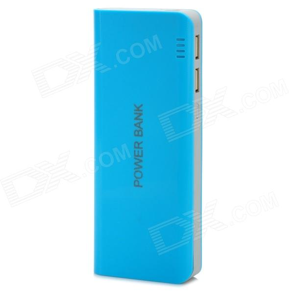 DIY 5 x 18650 Mobile Power Bank w/ Indicator / Dual USB - Blue