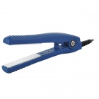 Mini Ceramic Plate Electric Straightening Hair Iron - Dark Blue
