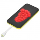 Portable 5200mAh Power Bank w/ Suction Cup / Stand for Android Cellphone - Light Yellow + Black (5V)