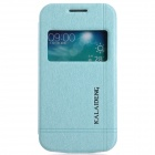 KALAIDENG Protective PU Leather Case Cover Stand w/ Visual Window Samsung Galaxy Trend 3 G3502 -Blue