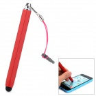 Portable 2-in-1 3.5mm Dust-Proof Plug + Stylus Pen for Touch Screen Device - Red