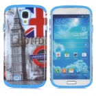 Big Ben & UK National Flag Style Protective PC + Silicone Case for Samsung Galaxy S4 i9500 - Blue