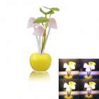 Q2 1.5W 28lm 3-LED Mushroom Colorful Night Lamp - Yellow (AC 220V / 2-Flat-Pin Plug)