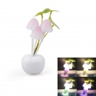 Q2 1.5W 28lm 3-LED Mushroom Colorful Night Lamp - White (AC 220V / 2-Flat-Pin Plug)