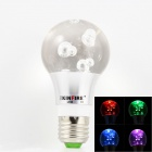KINFIRE E27 3W 3000~6000mcd LED RGB Crystal Lamp w/ Controller - Transparent + White (85~265V)