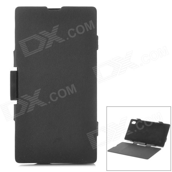''4200mAh'' External Battery w/ Flip Open Case for Sony L39h / Xperia Z1 / Xperia i1 - Black