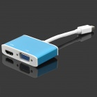 Mini DisplayPort to VGA / HDMI Adapter - White + Light Blue