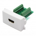 Nuosiya K86-601 V1.4 Soldering-free Socket 3D HDMI Female Adapter Module for 86 Panel - White