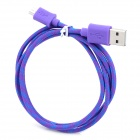 USB to Micro USB Nylon Data Cable for Cell Phone / MP3 / MP4 - Purple