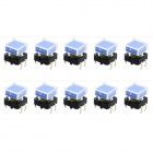 Jtron 12 x 12mm Square Touch Buttons Switch - Blue + Black (10 PCS)