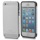 Protective Aluminum Alloy Bumper Frame for Iphone 5 / 5s - Black + Silver