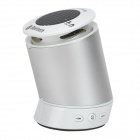 CZ Mini Rotary Bluetooth V2.1 + EDR Speaker w/ Micro USB / Mic - Silver + White + Multicolored
