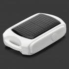 MD966 Mini Solar Powered Charger w/ 3-LED Lamp - White