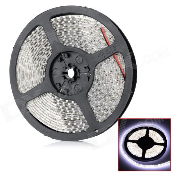 HML 48W 2600lm 6500K 600 x SMD 3528 LED White Light Flexible Decorative Strip Lamp - (12V / 5m) jr smd3528 60 w 24w 6500k 1200lm 300 smd 3528 led white flexible lamp strip 12v 5m