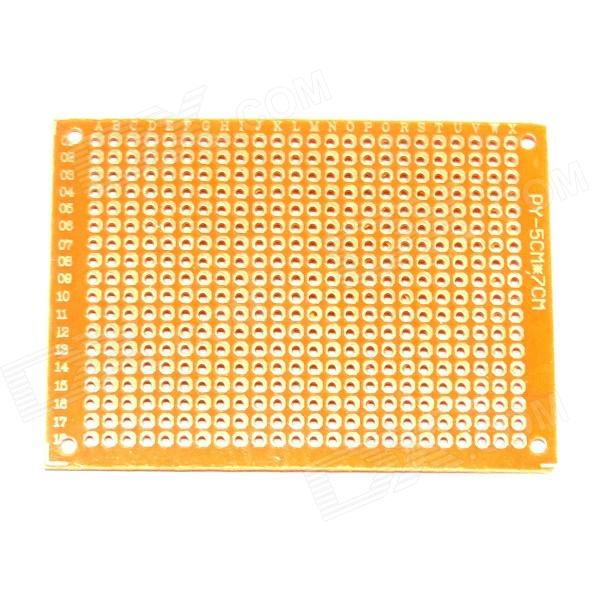 PCB57 1.2mm 5 x 7cm Bakelite PCB Circuit Boards - Dark Orange (10 PCS)  pcb79 1 2mm 7 x 9cm bakelite pcb circuit boards dark orange 5 pcs