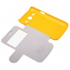 NILLKIN Protective PU Leather + PC Case Cover for Samsung Galaxy Trend 3 G3502U - Yellow
