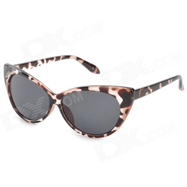 GL77042 Leopard Pattern UV400 Protection ABS Frame Resin Lens Sunglasses for Women - Brown cy8150 fashion women s resin uv400 protection sunglasses leopard pattern frame