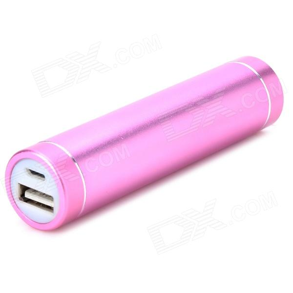 N19 Mobile 2600mAh Power Bank / 1-LED White Flashlight - Purple portable 6000mah power bank w flashlight for mobile tablet pc more pink white