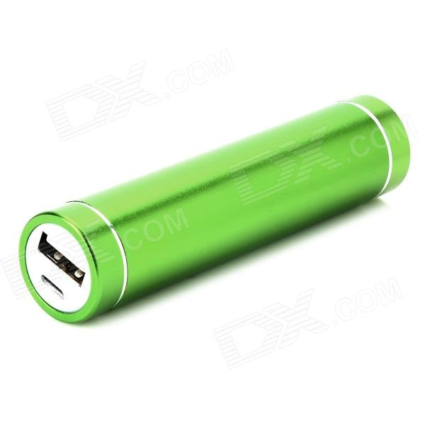 N19 Mobile 2600mAh Power Bank / 1-LED White Flashlight - Green portable 6000mah power bank w flashlight for mobile tablet pc more pink white