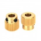 3D Printer Accessory Brass Extruder Gears - Golden (2 PCS)