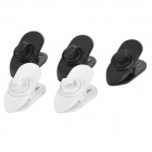 Plastic Clips for Earphone / Microphone - White + Black (5 PCS)