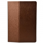 One Fold Style Silk Texture PU Leather + TPU Protective Case for Ipad AIR - Brown + Blue