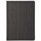Wood Grain Protective PU Leather + Plastic Case w/ Card Slot for Ipad AIR - Gray