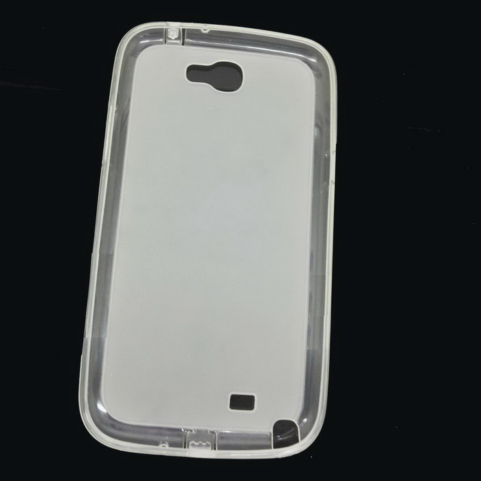 Goodlen Protective Soft TPU Back Cover Case for Samsung N7100- Translucent White protective silicone case for nds lite translucent white