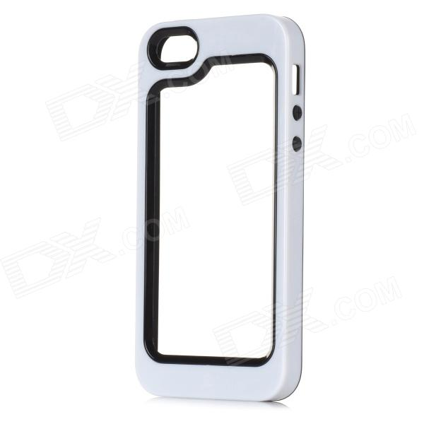 S-What Detachable Protective Silicone + PC Bumper Case for Iphone 5 / 5s - White + Black