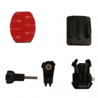 TELESIN Flat + Curved Adhesive Mount for Sony AS15/30 & Rollei Camera & Gopro Hero 3/3+
