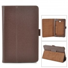 Protective Flip-Open PU Case w/ Stand for Asus 372 - Brown