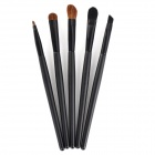Portable 5-in-1 Cosmetic Make-up Brushes Set - Black