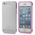 Protective Aluminum Alloy Bumper Frame for Iphone 5 / 5s - Deep Pink + Silver