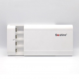 Soshine USB 4 * 18650 Li-ion Battery Charger Power Bank Box - White