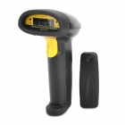 8037 Multi-Channel 2.4GHz Wireless Handheld Barcode Scanner w/ Bluetooth Receiver - Black + Yellow