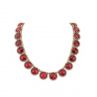 Vintage Place Style All-match Zinc Alloy Women's Necklace - Red