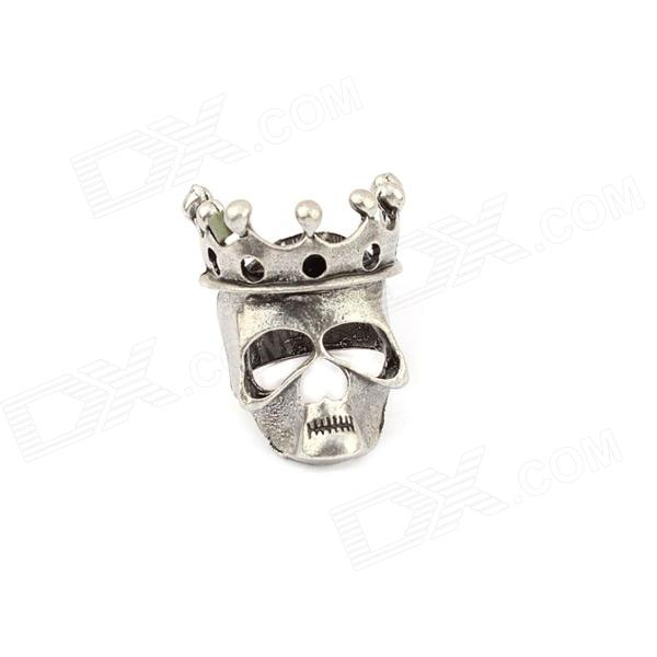 Characteristic King of Skull Head Style Zinc Alloy Women's Ring - Antique Silver