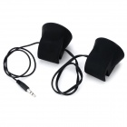 Portable Rechargeable Stereo Speaker for Cell Phone / Tablet PC - Black