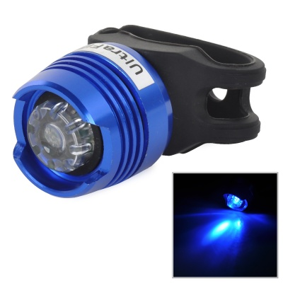 UltraFire LED 2.6lm 3-Mode Red Bike Tail Safety Light - Blue