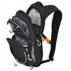 Locallion Outdoor Multi-function Backpack w/ Water Bag Compartment - Black